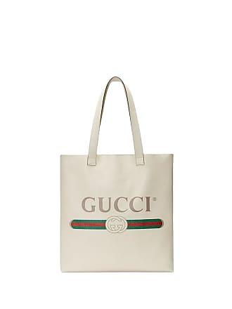 2b748e92a265 Gucci Gucci Print leather tote - White