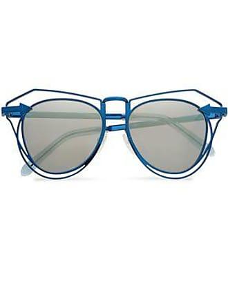 d55843afd5c3 Karen Walker Karen Walker Woman Aviator-style Metal Mirrored Sunglasses  Blue Size