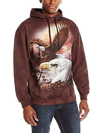 The Mountain Eagle & Clouds Hsw Adult Hoodie, Brown, 2XL