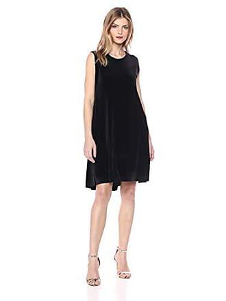 Norma Kamali Womens Sleeveless Swing Dress, Black XL