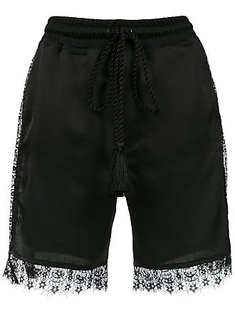 À La Garçonne lace detail short - Black
