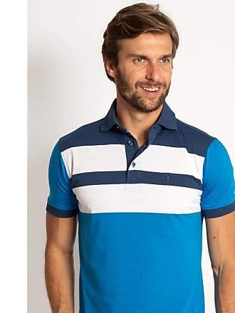 Aleatory Camisa Polo Aleatory Listrada Vert Azul-Azul-P