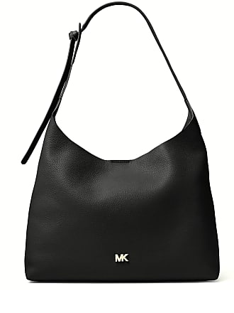Michael Kors BORSA A SPALLA JUNIE MEDIA IN PELLE MARTELLATA 7 colore NERO 7d47694b069