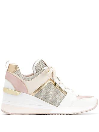 Michael Michael Kors panelled wedge sneakers - Pink
