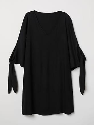 H&M Dress with Tie Sleeves - Black