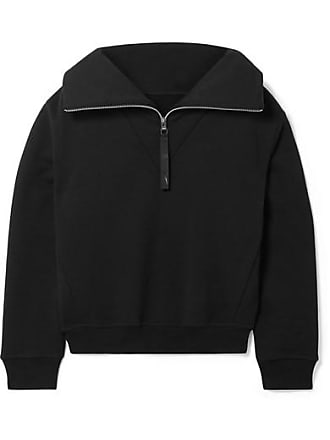 Reebok Embroidered Cotton-jersey Sweatshirt - Black