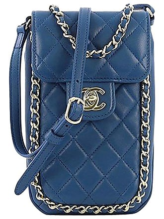 f88395438fe2 Chanel Chain Around Phone Holder Crossbody Bag Quilted Lambskin