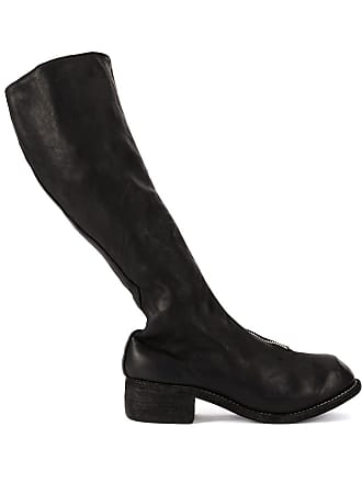 Guidi tall zip front boots - Preto