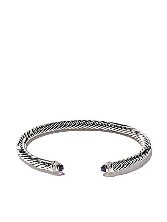 David Yurman Cable Classics amethyst and diamond cuff bracelet - Ssaamdi