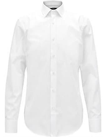 49325f818dd9 HUGO BOSS Slim-Fit Business Shirt In Cotton Poplin