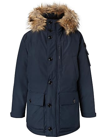 J.crew Nordic Faux Fur-trimmed Canvas Hooded Parka - Navy