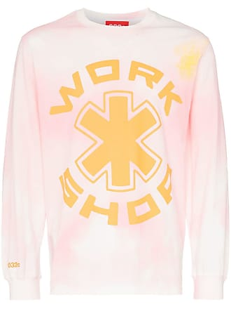 032c Cosmic Workshop tie dye logo print cotton T-shirt - Pink