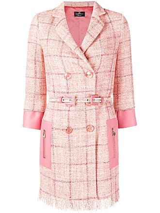 Elisabetta Franchi check double-breasted jacket - Rosa