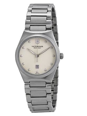 Victorinox by Swiss Army Swiss Army Victoria Eggshell Dial Stainless Steel Ladies Watch 241513