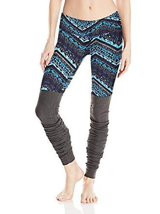 ac903c467a Alo Yoga Womens Goddess Ribbed Legging, Seaport Blue Icelandic/Stormy  Heather, Large