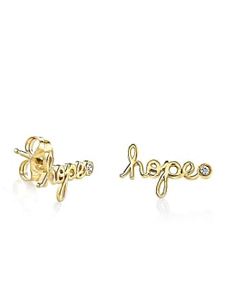 a2b24c903 Sydney Evan 14K Yellow Gold Plated Sterling Silver Diamond Hope Stud  Earrings - 0.02 ctw