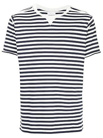TAKAHIROMIYASHITA TheSoloist. Camiseta listrada decote careca - Azul