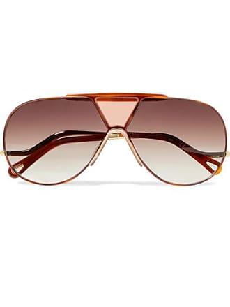 d19b720ba3fd Chloé Willis Aviator-style Gold-tone Sunglasses - one size