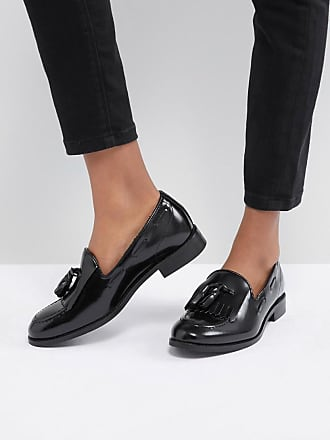 Hudson Fringe Leather Loafer - Black