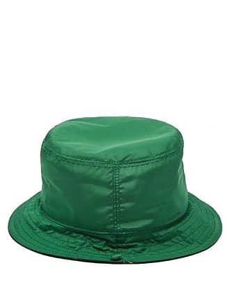 ec68fff7 Gucci Web Stripe Lined Nylon Bucket Hat - Womens - Green