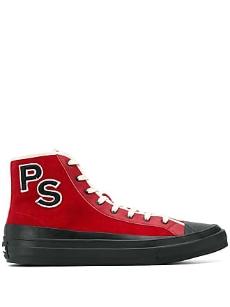 Paul Smith red monogram hi-tops