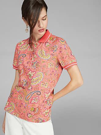 Etro Polo-shirt Mit Paisley-details, Damen, Rosa, Größe 40