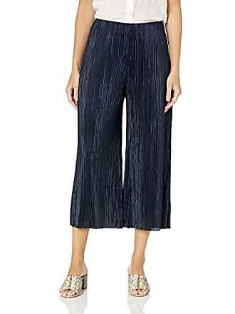 Nic+Zoe Womens REVAMP Pleated Pant, Dark Indigo, Small