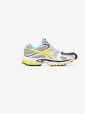 VETEMENTS yellow Spike Runner 200 fluro trim sneakers