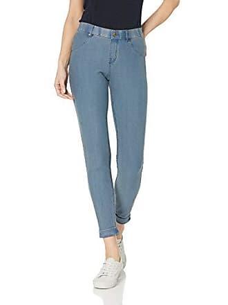 Hue Womens Essential Denim Jean Skimmer Leggings, Assorted, Cuffed/Stone Acid Wash M