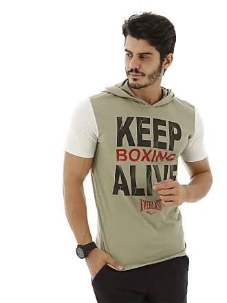 Everlast Camiseta Algodão-M-Verde+Mescla