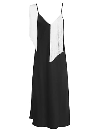Ellery VESTIDO FRINGED SLIP DRESS - PRETO