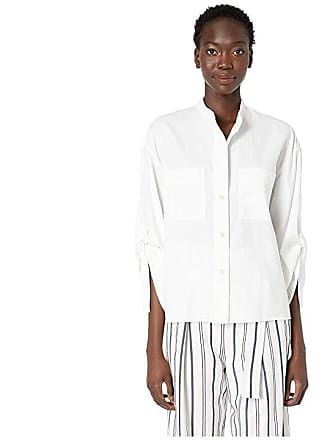 d560095e646f9d Vince D-Ring Sleeve Utility Shirt (Optic White) Womens Clothing