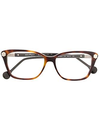 Salvatore Ferragamo Armação de óculos tartaruga - Marrom