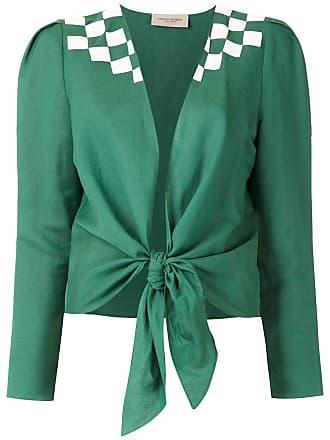Adriana Degreas Camisa Wimblendon com amarração - Verde