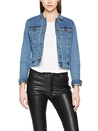 8c0b15d726 Vero Moda Vmhot SOYA Ls Jacket Mix Noos Blouson, Bleu Medium Blue Denim, 38