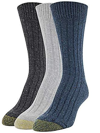 Gold Toe Womens Weekender Socks, 3 Pairs, teal/grey/black, Shoe Size: 6-9