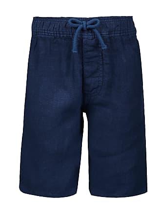 Vilebrequin Boys Ready to Wear - Boys Linen Bermuda Shorts Solid - BERMUDA - BAHAMI - Blue - 14 - Vilebrequin