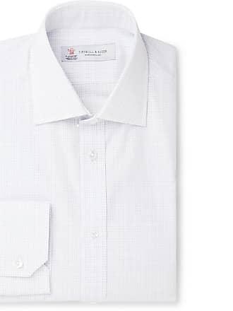6cf4c33236d2 Turnbull & Asser White Slim-fit Cutaway-collar Checked Cotton-poplin Shirt -