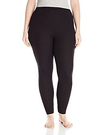 Fruit Of The Loom Womens Plus Size Fit for Me Waffle Thermal Bottom, Black Soot, 2X