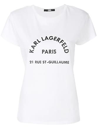 Karl Lagerfeld Camiseta com estampa de logo - Branco