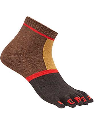 Fendi short colour block socks - Marrom