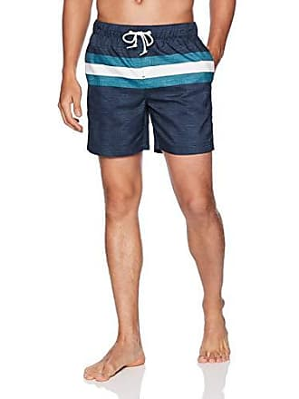 fede1aa64e Original Penguin Mens Stripe Elastic Waist Volley Swim Short, Dark  Sapphire/Dragon Fly,