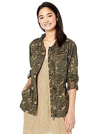 Urban Republic Womens Juniors Cotton Twill Jacket, Hibiscus CP, XL