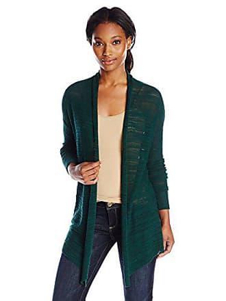 Joan Vass Womens Open Front Cardigan, Green, 0