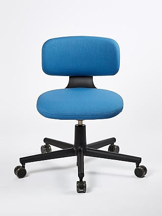 Vitra Rookie Office Chair Deep Black & Indigo Volo Upholstery