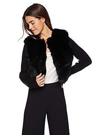 Ramy Brook Womens ABEL Faux Fur Sweater Jacket, Black, Medium