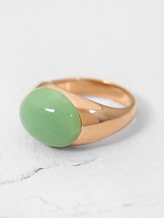 Helena Rohner Oval Porcelain Ring Shale Green