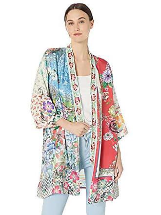 Johnny Was Womens Embroidered Trim Kimono, Multi, L