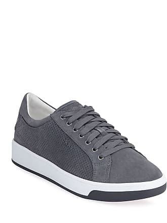 DKNY Mens Samson Lace-Up Suede Sneakers