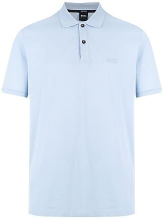HUGO BOSS Camisa polo com logo - Azul a3ec46f4526